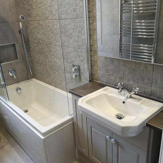 porcelanosa tiles in Falcon Avenue Bathroom Refurbishment Edinburgh