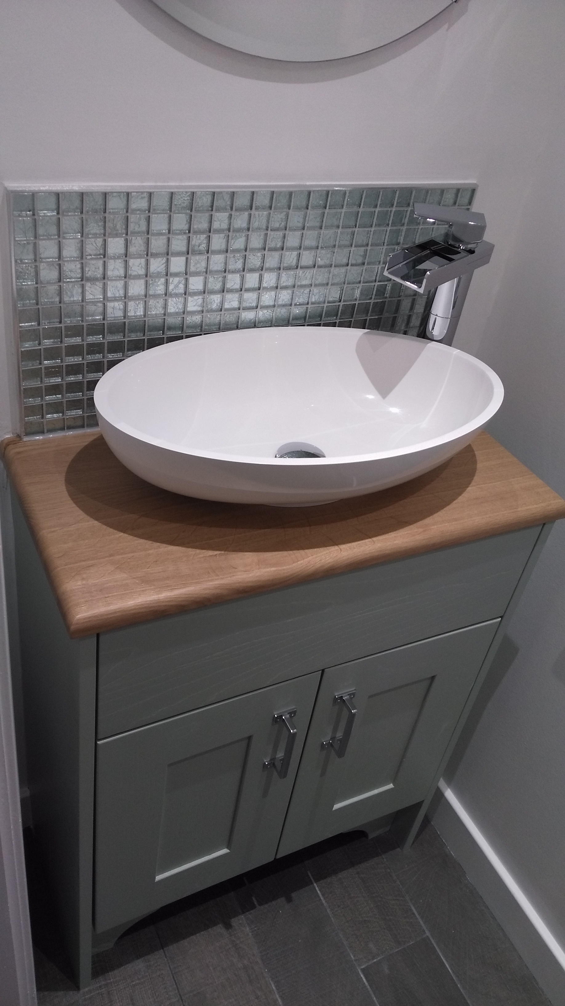 Traditional Bathroom Edinburgh with vanity unit and deck mounted sink