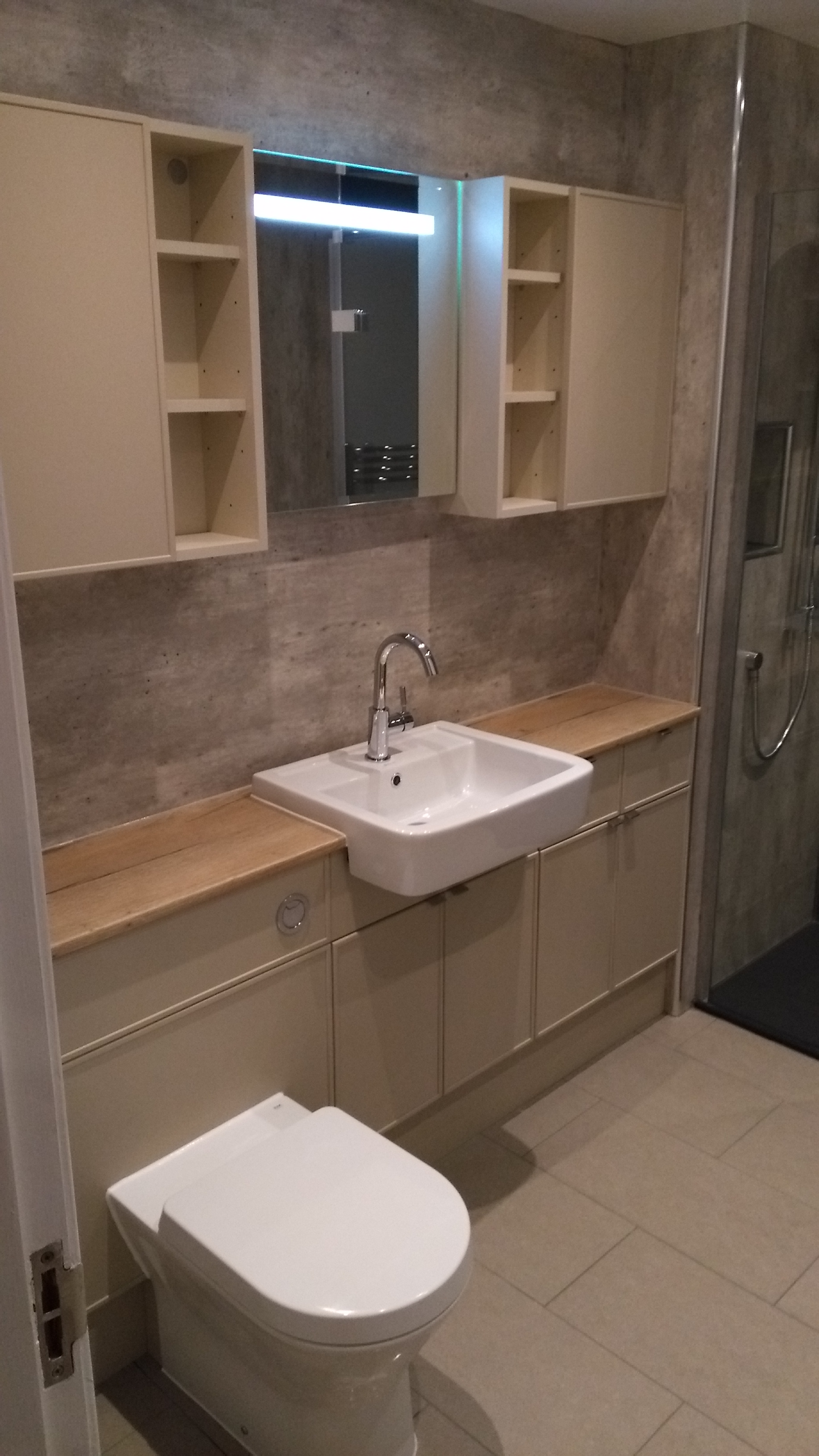 Large Vanity cabinets with single sink