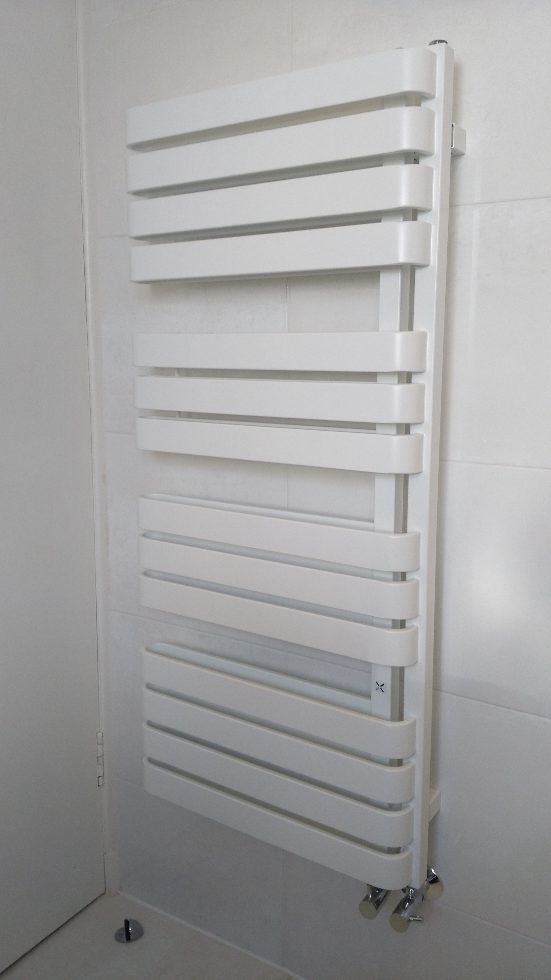 White radiator for towels in bathroom Edinburgh