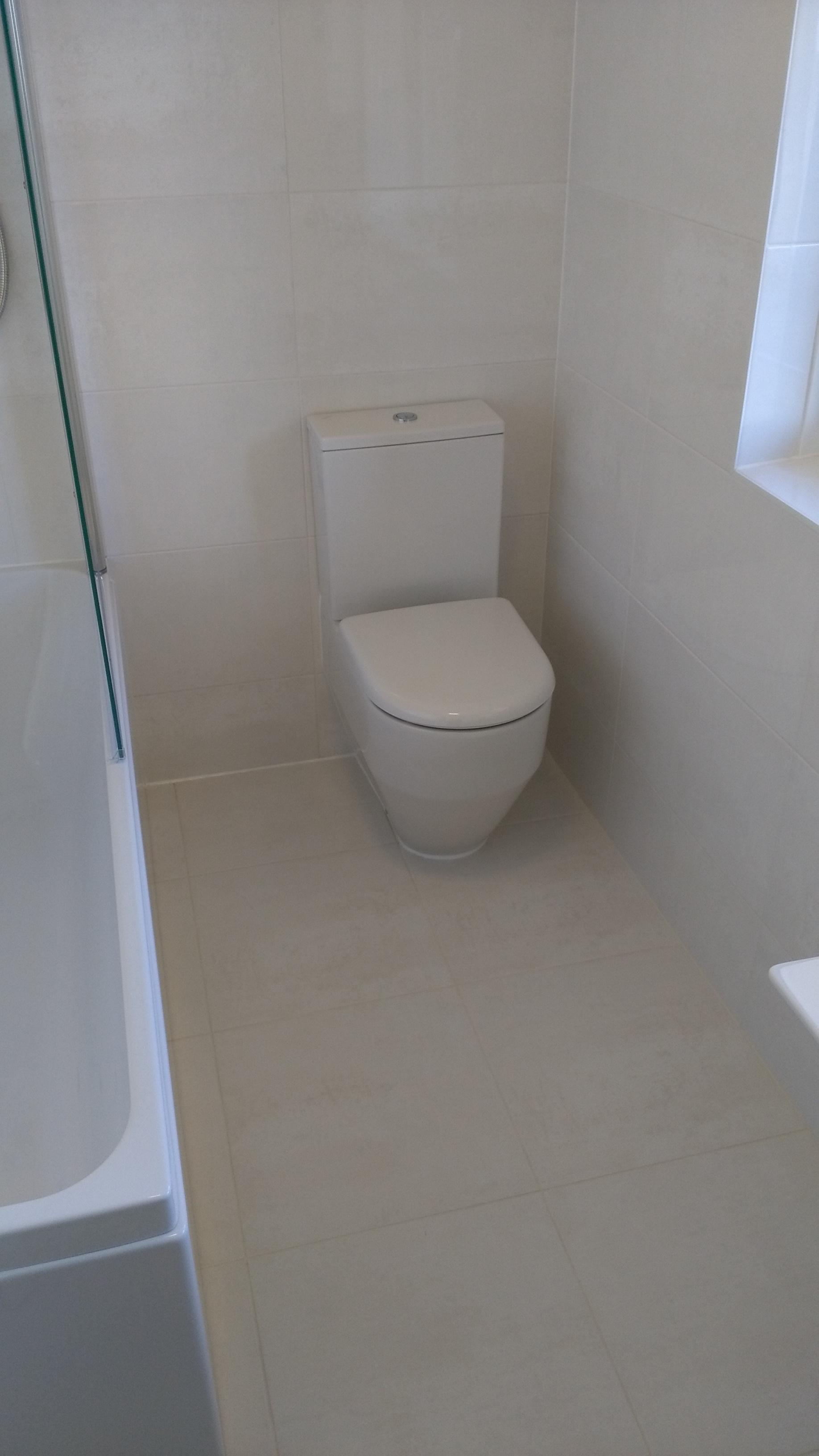White Close Couple WC In White Edinburgh Bathroom.