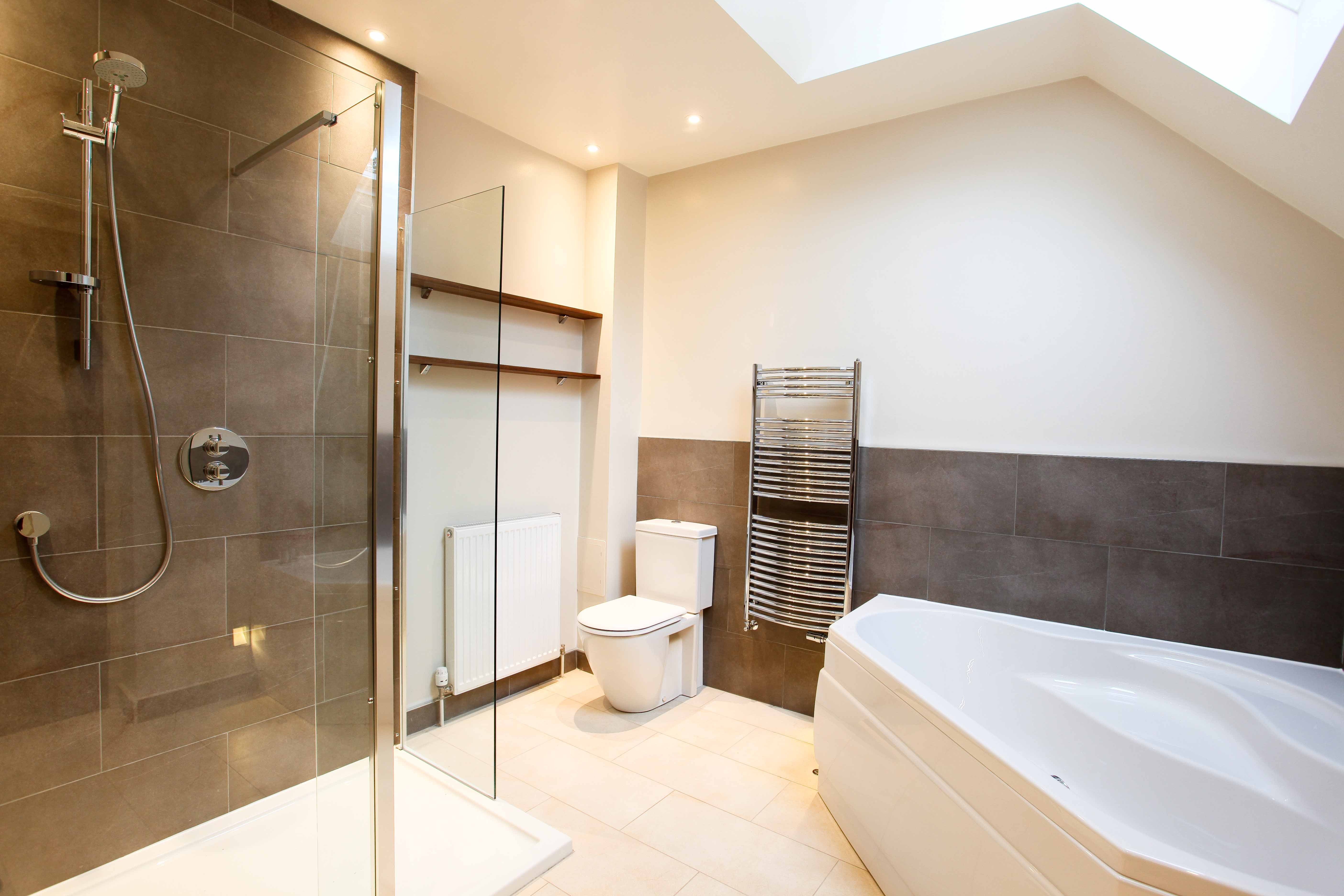 Specialist Bathroom with half height tiling.
