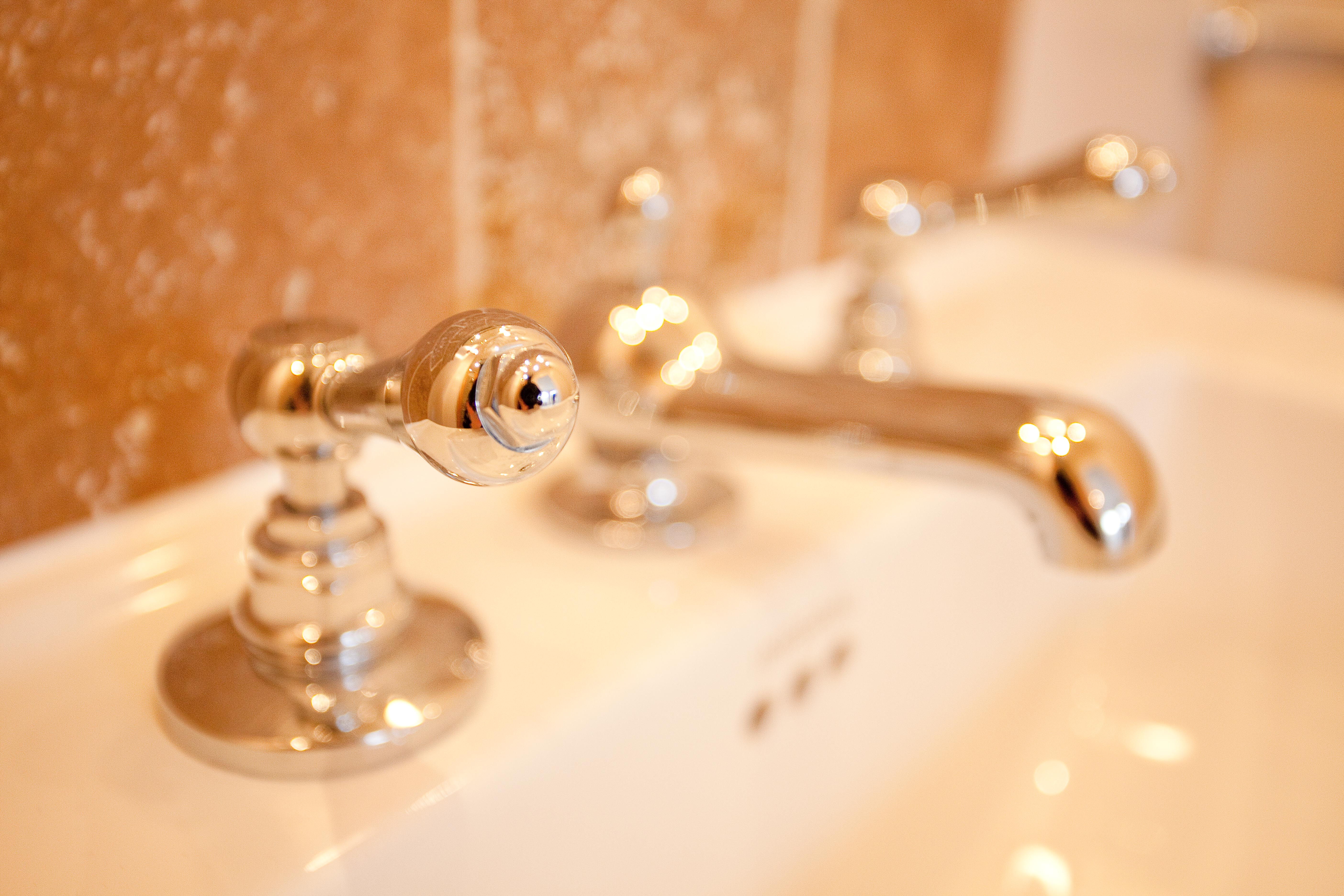 Traditional bathroom design sink and taps