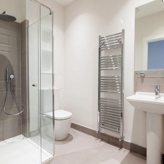 Modern bathroom at Princes Street Edinburgh Bathroom Design Installation